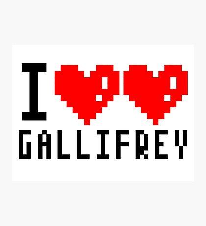 I heart heart gallifrey Photographic Print
