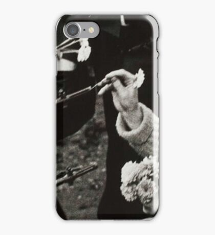 Flowers in Guns BK and WT iPhone Case/Skin