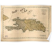 American Revolutionary War Era Maps 1750-1786 927 The island of Hispaniola called by the French St Domingo Subject to France & Spain Poster