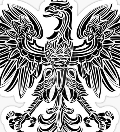 Polish eagle black Poland cote of arms Sticker