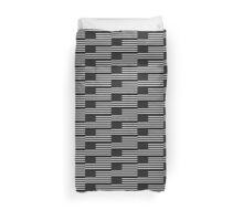 Black and White US Flag Duvet Cover