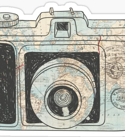 Traveler Camera Sticker