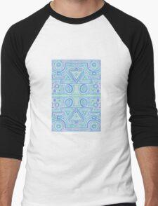 Blue Stripe Men's Baseball ¾ T-Shirt