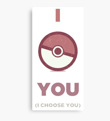 Pokemon - I Choose You Canvas Print