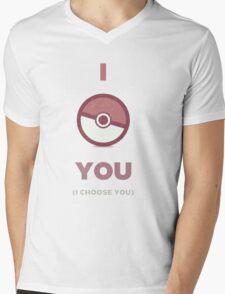 Pokemon - I Choose You Mens V-Neck T-Shirt