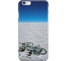 Salar de Uyuni & bicycle iPhone Case/Skin