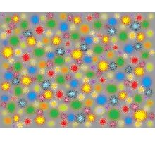 Frosted Polka Dots Photographic Print