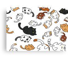 Neko Atsume Cats Canvas Print