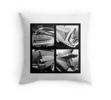 50's American cars tails Throw Pillow