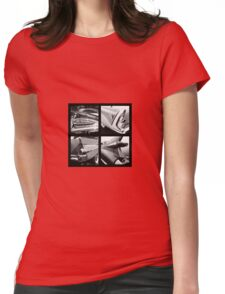 50's American cars tails Womens Fitted T-Shirt