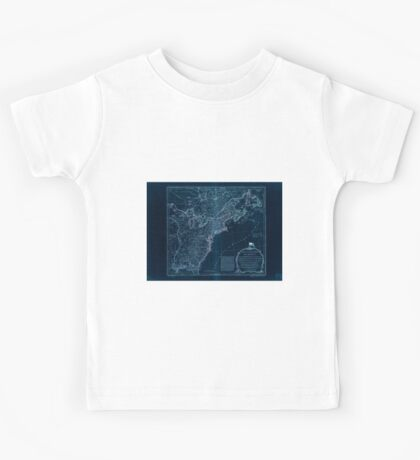 American Revolutionary War Era Maps 1750-1786 951 The United States of America with the British possessions of Canada Nova Scotia New Brunswick and Inverted Kids Tee
