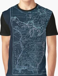 American Revolutionary War Era Maps 1750-1786 951 The United States of America with the British possessions of Canada Nova Scotia New Brunswick and Inverted Graphic T-Shirt