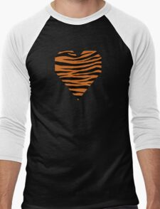 0135 Cinnamon, Chocolate (WWW)  or Cocoa Brown Tiger Men's Baseball ¾ T-Shirt