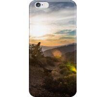 Sunset Glare over Joshua Tree iPhone Case/Skin