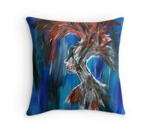 Abstract Silhouette Throw Pillow