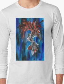 Abstract Silhouette Long Sleeve T-Shirt