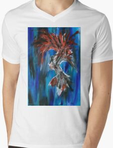 Abstract Silhouette Mens V-Neck T-Shirt