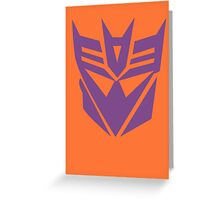 Transformers Decepticon Logo Greeting Card