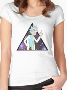 Rick and morty space 2 Women's Fitted Scoop T-Shirt