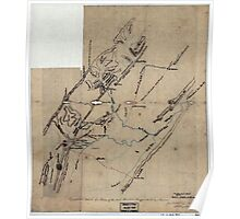269 Topographical sketch of a portion of the North Mountain Range the Valley of Virginia Poster