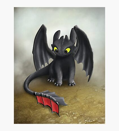 Toothless Dragon inspired from How To train Your Dragon. Photographic Print