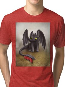 Toothless Dragon inspired from How To train Your Dragon. Tri-blend T-Shirt