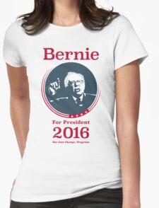 """Not Just Change, Progress."" - Bernie Sanders  Womens Fitted T-Shirt"