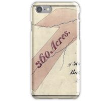 157 Map of 360 acres of land lying in Bath County Va the property of W Ramsey Esqr iPhone Case/Skin