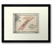 157 Map of 360 acres of land lying in Bath County Va the property of W Ramsey Esqr Framed Print