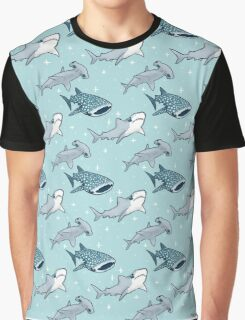 Shark Pattern Graphic T-Shirt