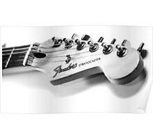 Fender Stratocaster Guitar Headstock Poster