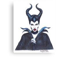 Maleficent drawing Canvas Print