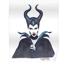 Maleficent drawing Poster