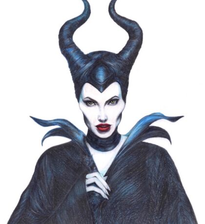 Maleficent drawing Sticker