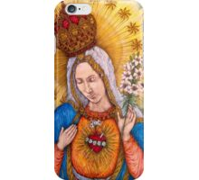 Immaculate Heart Of Virgin Mary Drawing iPhone Case/Skin