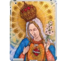 Immaculate Heart Of Virgin Mary Drawing iPad Case/Skin