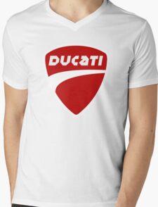 T-Shirt DUCATI Black Mens V-Neck T-Shirt