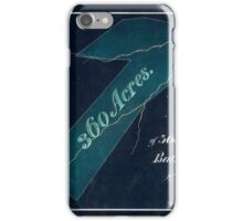 157 Map of 360 acres of land lying in Bath County Va the property of W Ramsey Esqr Inverted iPhone Case/Skin