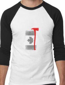 Canadian firifighter flag Men's Baseball ¾ T-Shirt