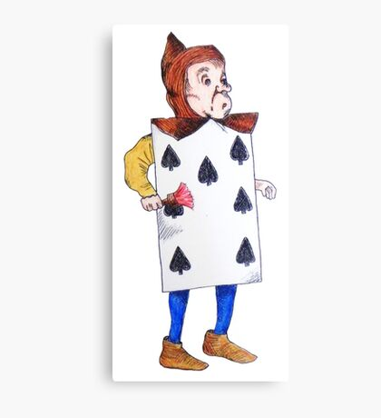 The 7 of Spades  Canvas Print