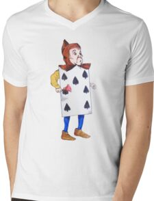 The 7 of Spades  Mens V-Neck T-Shirt