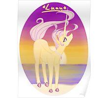 Luau The Unicorn Poster