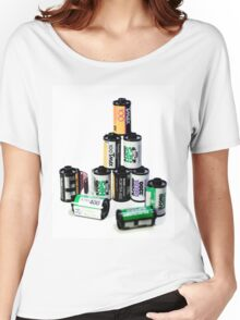 35mm Film Canister Pyramid Women's Relaxed Fit T-Shirt