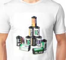35mm Film Canister Pyramid Unisex T-Shirt