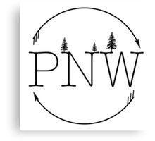 PNW Circle Canvas Print