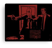 Dead Fiction - Red #2 Canvas Print