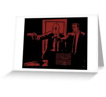 Dead Fiction - Red #2 Greeting Card