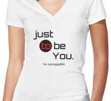 be Unstoppable Women's Fitted V-Neck T-Shirt