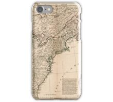 American Revolutionary War Era Maps 1750-1786 949 The United States of America with the British possessions of Canada Nova Scotia New Brunswick and iPhone Case/Skin