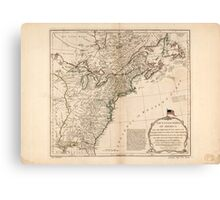 American Revolutionary War Era Maps 1750-1786 949 The United States of America with the British possessions of Canada Nova Scotia New Brunswick and Canvas Print